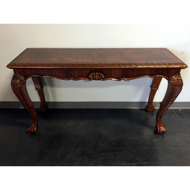 Chippendale Mahogany Inlaid Console Sofa Table - Image 2 of 11