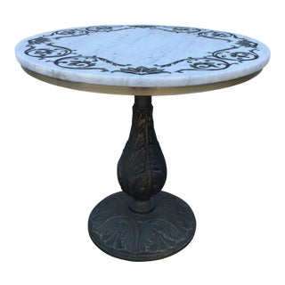Mid 20th Century Vintage Marble Top Table