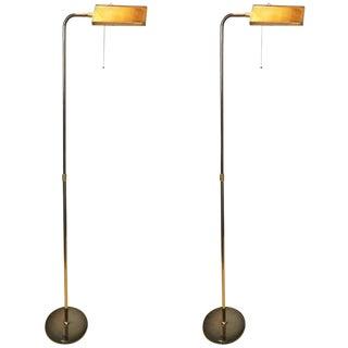 Pair of Deknudt Reading Floor Lamps