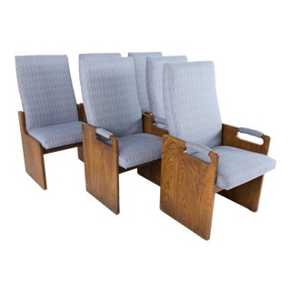 Lane Pueblo Mid Century Brutalist Dining Chairs - Set of 6 For Sale