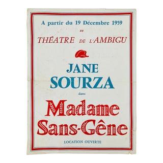 1959 French Theatre De L' Ambigu Poster For Sale