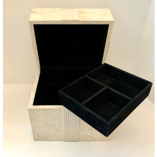 1980s Renoir Designs, Tessellated Stone Jewelry Bow Box Preview