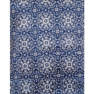Pasargad Ny Indo Blue Modern Hand-Knotted Rug - 8′ × 10′ For Sale