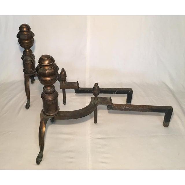 Bronze Pair of Bronze Andirons - Circa 1920s For Sale - Image 8 of 13