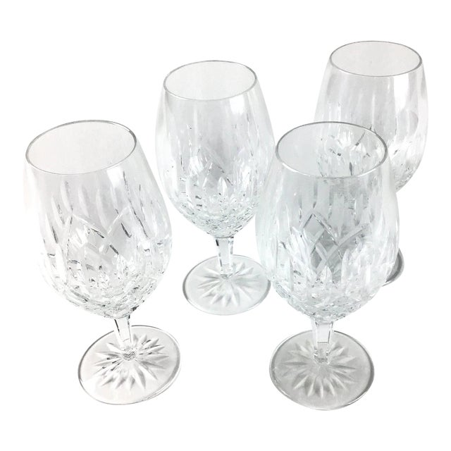 Cut Crystal Heavy Water Glasses - Set of 4 For Sale