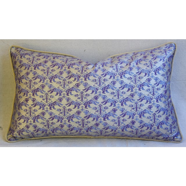 Designer Italian Mariano Fortuny Richelieu Feather/Down Pillows - a Pair - Image 6 of 11