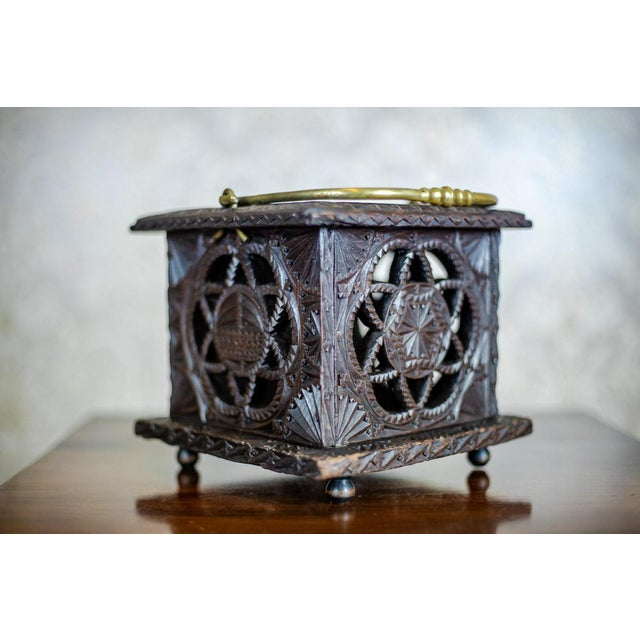 Late 18th Century Late 18th Century Wooden Foot Warmer For Sale - Image 5 of 11