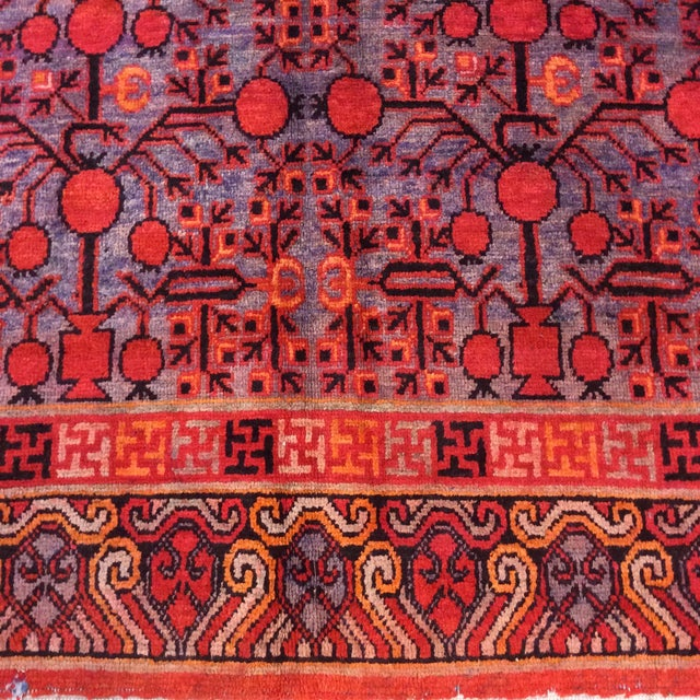 "Textile Antique Chinese Khotan - 5'6""x 10'3"" For Sale - Image 7 of 13"