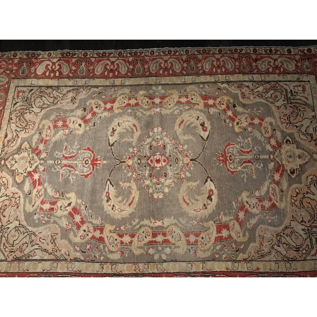 "Bellwether Rugs Antique Turkish Oushak Rug - 4'3""x6'2"" - Image 3 of 10"