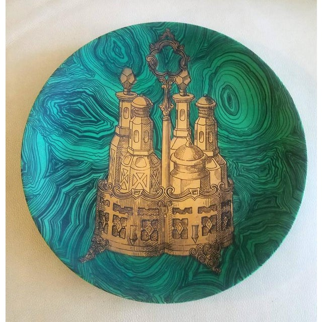 Piero Fornasetti Stoviglie Malachite Plates - Set of 12 - Image 7 of 11