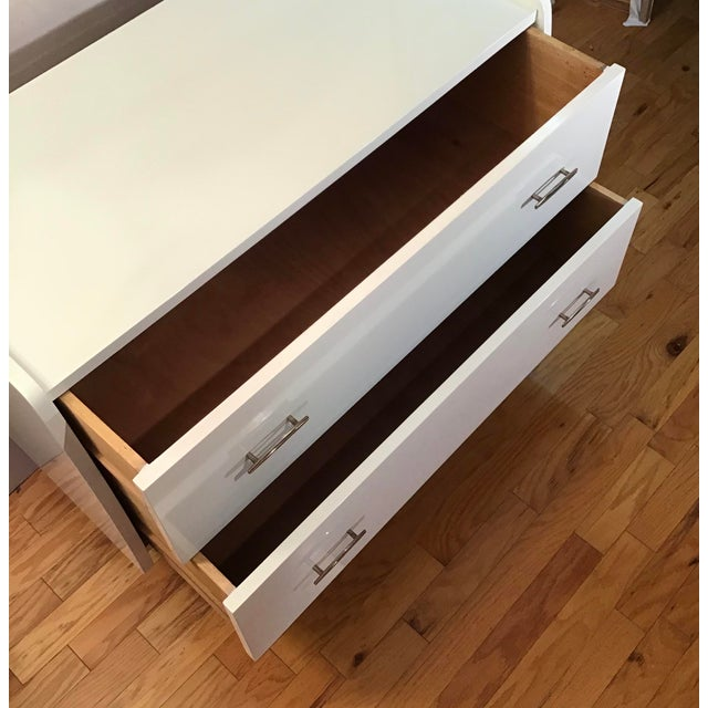 White 1950's Italian Chest Manner of Gio Ponti - a Pair For Sale - Image 8 of 13