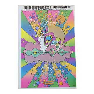 Vintage 20th C. Lithograph-Peter Max Poster-Signed-C.1970-Folio Size For Sale