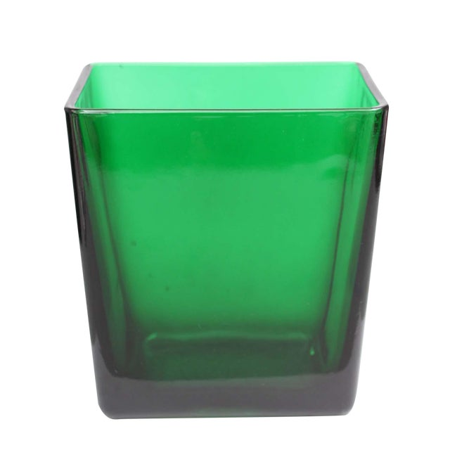 Emerald Green Tall Rectangular Vase Chairish