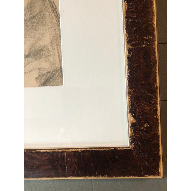 Original Vintage Charcoal Female Nude Study Sketch For Sale - Image 4 of 6