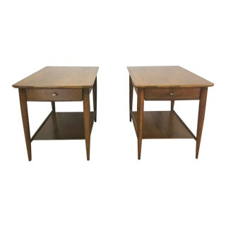 Pair of Mid Century Walnut End Tables by Mersman For Sale