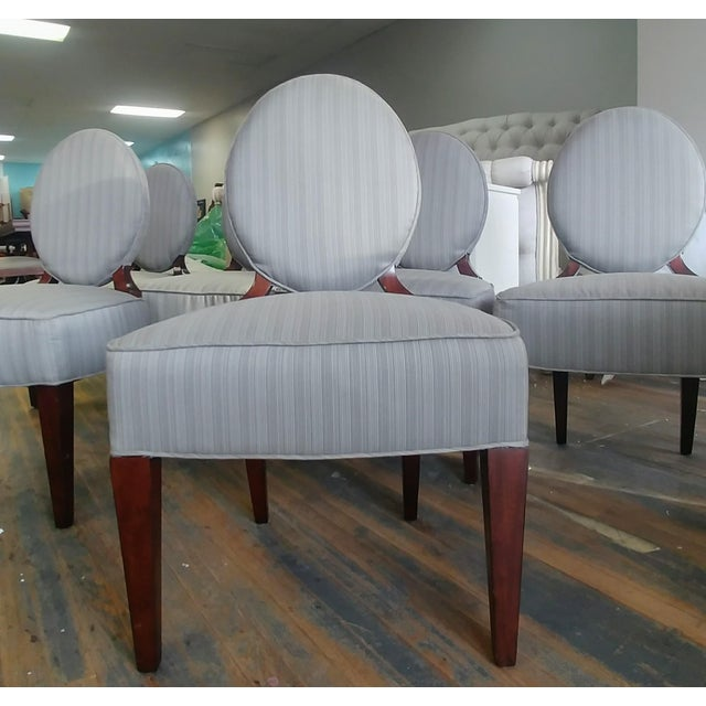 Henredon Furniture Barbara Barry Walnut Oval Back Side Chairs - Set of 6 For Sale In Charlotte - Image 6 of 11
