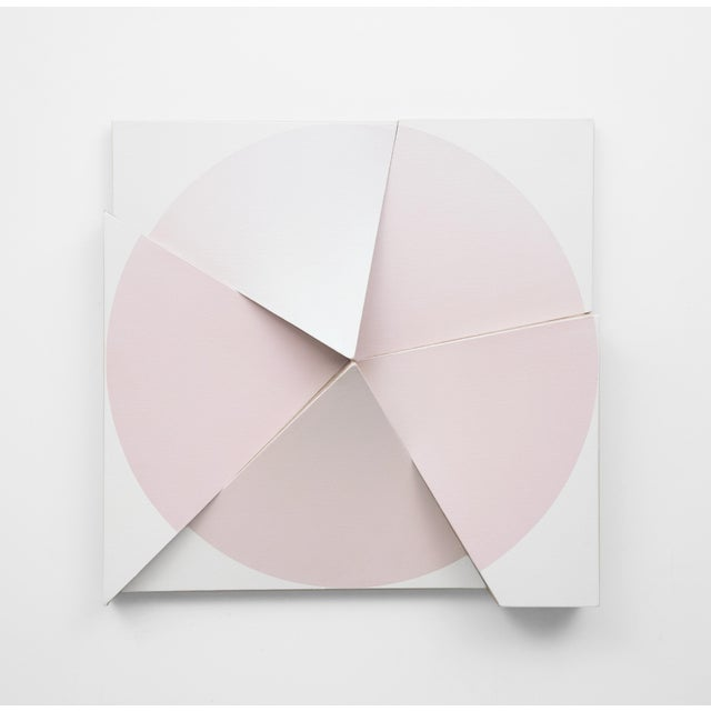 Jan Maarten Voskuil 'Roundtrip Pointless Pink Interference Turquoise' Acrylic on Linen Painting, 2018 For Sale - Image 4 of 4