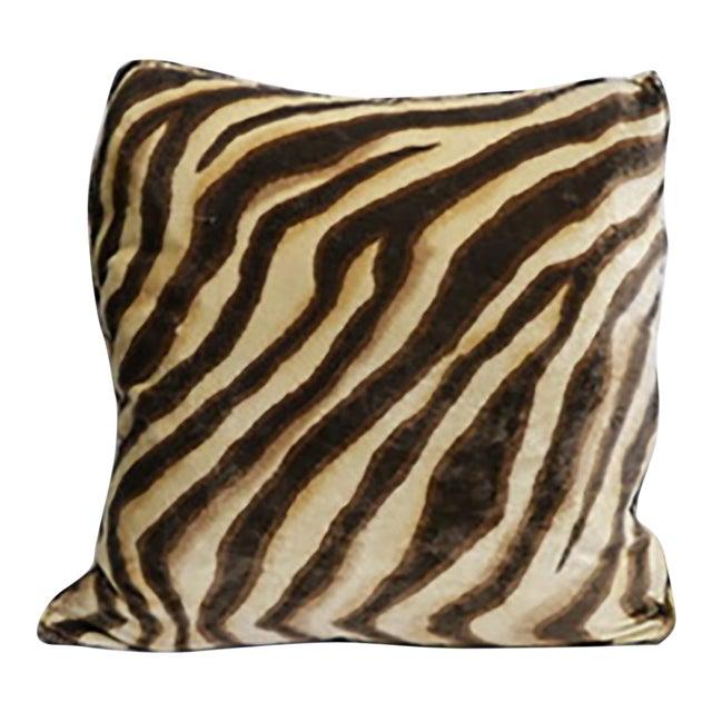 Velvet Tiger Pillow For Sale