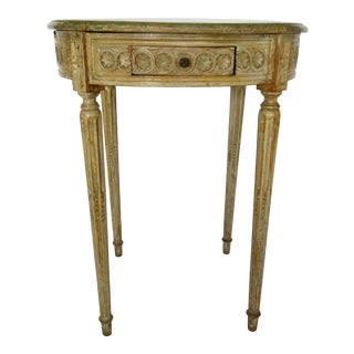 1950s Neoclassical-Style Parcel Painted Side Table For Sale