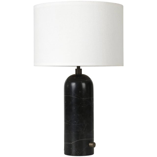 Gravity' Black Marble Table Lamp For Sale