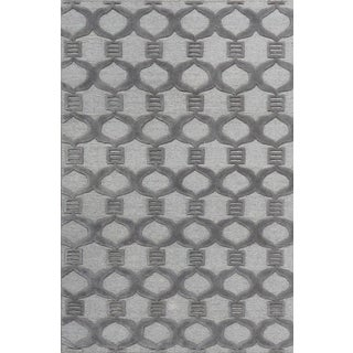 """Contemporary Hand Woven Rug - 3'9"""" x 5'9"""" For Sale"""