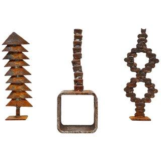 1970 Theo Niermeijer Set of Iron Sculptures