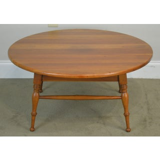 """Traditional Solid Cherry Vintage 34"""" Round Revolving Top Coffee Table Preview"""