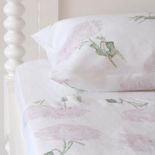 Peony Linen Sheet Set in California King - 4 Pieces For Sale