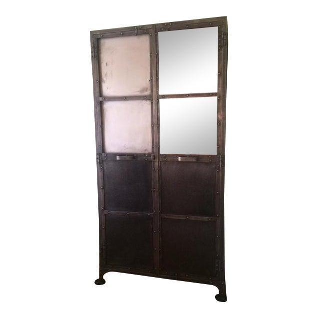 Arhaus Industrial Metal Cabinet For Sale