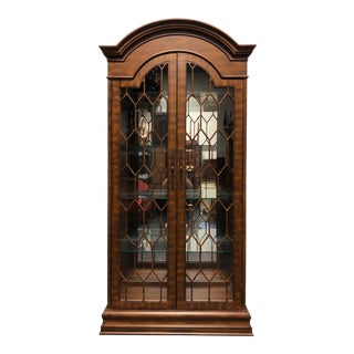 Hooker Seven Seas French Country Bonnet Top Curio China Display Cabinet For Sale