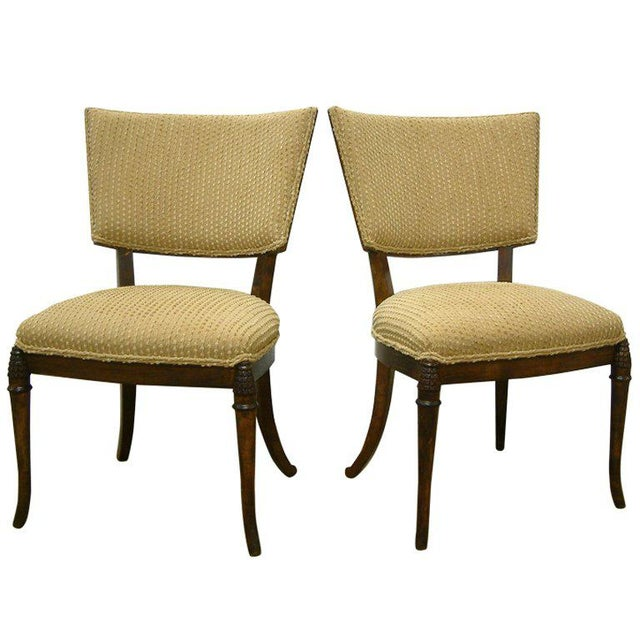 White 1930s Beechwood Klismos Chairs - A Pair For Sale - Image 8 of 8