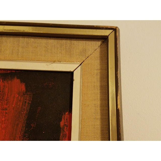 Mid-Century Abstract Oil Painting - Image 8 of 8