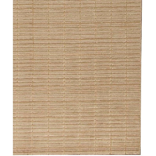 """Contemporary Contemporary Hand Woven Rug - 4'9"""" x 6'9"""" For Sale - Image 3 of 4"""