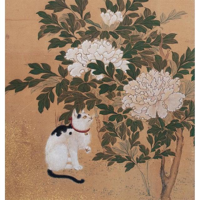 Asian 1880's Vintage Japanese Yamato-E Byobu Screen For Sale - Image 3 of 13