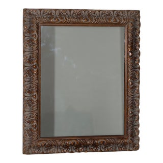 Vintage Carved Frame with Mirror C.1970s For Sale