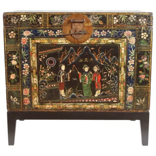 19th Century Chinese Painted Chest For Sale