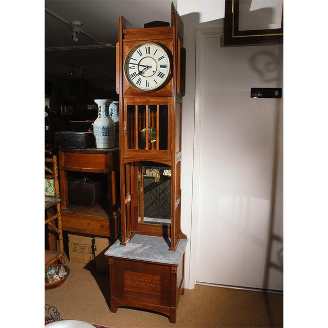 Ansonia Tall Case Clock For Sale - Image 4 of 5