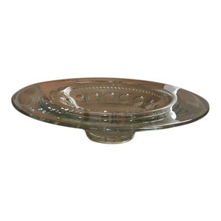 Kings Crown Thumbprint Centerpiece Bowl For Sale