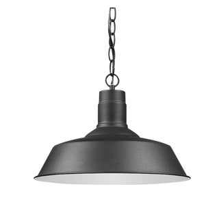 Homestead 1 Light Outdoor Hanging, Black and White For Sale