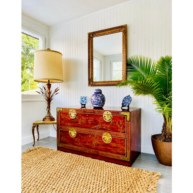 Drexel Chinoiserie Drexel Rosewood Chest of 2 Drawers For Sale - Image 4 of 13