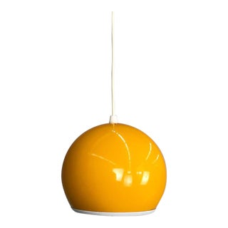 Yellow Swedish Modern Pendant Lamp For Sale