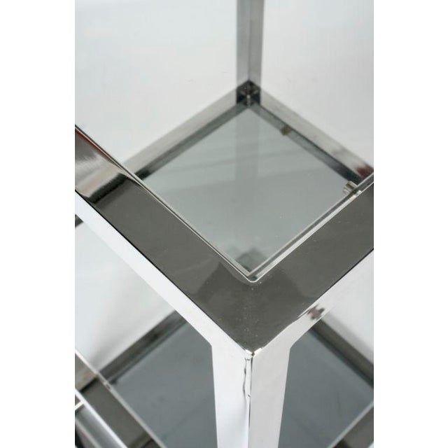 Chrome Asymmetrical Stacked Cubes Etagere after Milo Baughman - Set of 3 For Sale - Image 7 of 7