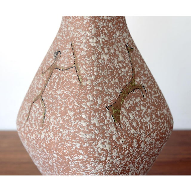 Mid 19th Century Mid Century Lascaux Cave Paintings Ceramic Table Lamp For Sale - Image 5 of 12