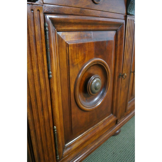 Quality Solid Mahogany Rustic Continental Server - Image 9 of 10
