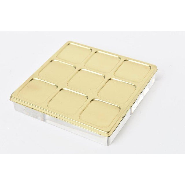 Brass Brass Tic Tac Toe Game Mid-Century Modern For Sale - Image 7 of 9