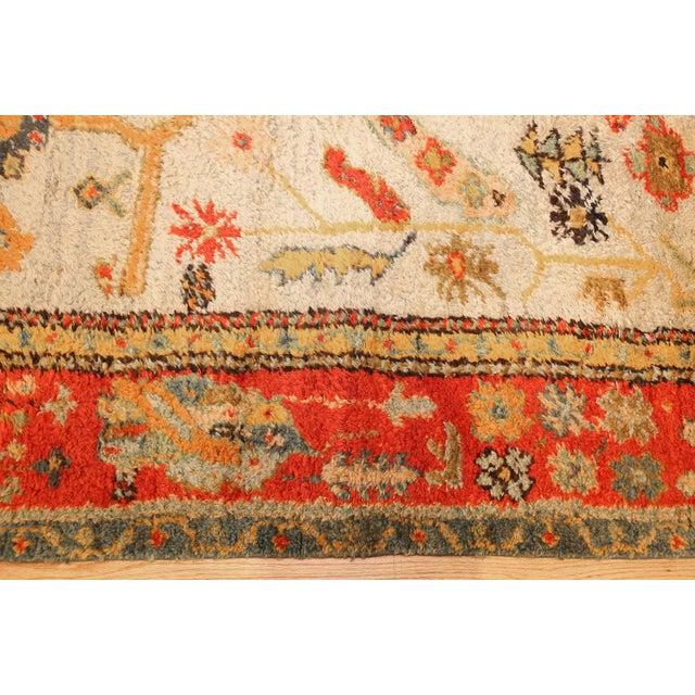 Arts & Crafts Antique Turkish Arts & Crafts Oushak Rug - 8′4″ × 17′3″ For Sale - Image 3 of 11
