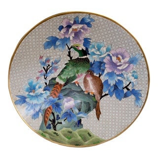 Chinese Bronze Cloisonne Enamel Charger