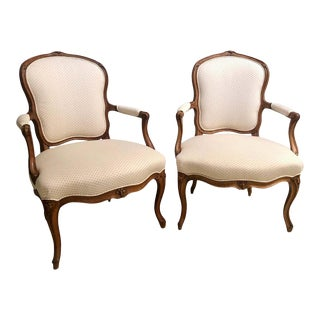 18th Century Pair of Beechwood Fauteuils or Armchairs With Provenance For Sale