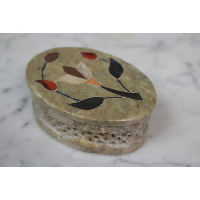 Soapstone 1960s Vintage Soapstone Indian Box For Sale - Image 7 of 8
