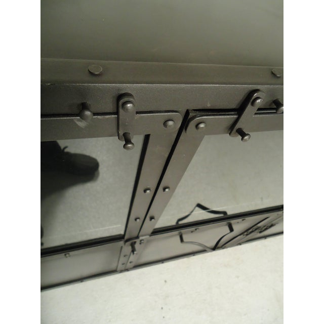 Black Metal Console For Sale - Image 4 of 6